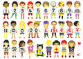 Numbers kids for education logo text character set Stock Photo