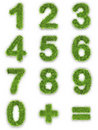 Numbers made of green grass Stock Photography