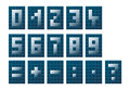Numbers and mathematical symbols modern unusual styled Royalty Free Stock Images