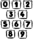 Numbers on note paper vector image of a hand drawn Royalty Free Stock Image