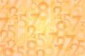 Numbers orange background Royalty Free Stock Photo