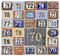 Numbers 70s Royalty Free Stock Photo