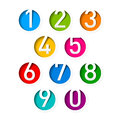Numbers set Royalty Free Stock Photos