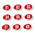Numbers set vector label isolated Royalty Free Stock Photo