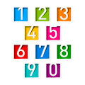 Numbers set of on white Stock Photos