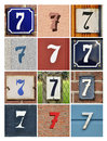 Numbers Seven Royalty Free Stock Photography