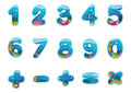 Numbers and signs Royalty Free Stock Photos