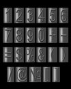Numbers and signs in metal type Stock Photography