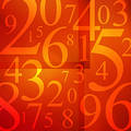 Numbers Soup Royalty Free Stock Photo