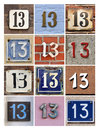 Numbers Thirteen Royalty Free Stock Photo