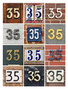 Numbers thirty five collage of house Royalty Free Stock Photos