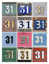 Numbers Thirty-one Royalty Free Stock Image