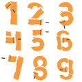 Numbers from to are drawn with paint roller vector Royalty Free Stock Image