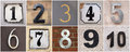 Numbers to set of house from Stock Photography