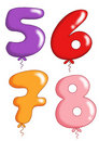 Numbers - toy balloons 2 Royalty Free Stock Images