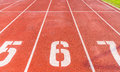 Numbers of track lanes