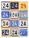 Numbers twenty four collage of house Stock Images
