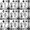 Numbers usable for different design Royalty Free Stock Photos