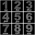 Numbers usable for different design Royalty Free Stock Images