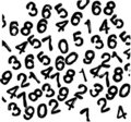 Numbers. vector wallpaper Royalty Free Stock Photo