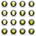 Numbers yellow button set Royalty Free Stock Photography