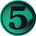 Numeral button-five Stock Photos