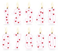 Numeral girls birthday candle Stock Photo