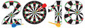 2018 Numerals with Dartboards and Darts vector Illustration Royalty Free Stock Photo