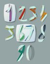 Numerals ribbon for infographics and anniversaries Stock Photo