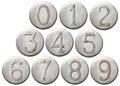 Numeri del metallo Fotografia Stock Libera da Diritti