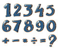 Numeric figures and mathematical operations Royalty Free Stock Photo