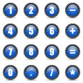 Numeric icons set Royalty Free Stock Photo