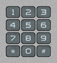 Numeric keypad bitmap realistic illustration Royalty Free Stock Photography