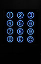 Numeric keypad with blue circular buttons Stock Photography