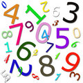 Numeric Pattern Royalty Free Stock Images