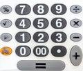 Numeric white keypad close up Stock Photos