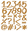 Numerical figures and symbols on a white background Stock Photography