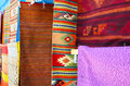 Numerous authentic covers at display at the market in oaxaca Royalty Free Stock Photos
