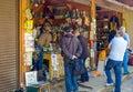 The numismatic shop in Izmailovsky market Royalty Free Stock Photo