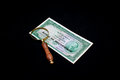 Numismatics is collecting banknotes and coins Stock Photo