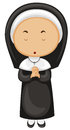 Nun in black outfit