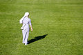 Nun on green soccer field krizevci croatia may unidentified the in town of krizevci croatia taken may Royalty Free Stock Photo