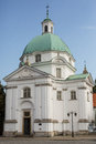 Nuns of the holy sacrament church domed warsaw poland Stock Images