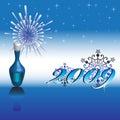 Nuovo anno felice 2009 Fotografie Stock Libere da Diritti