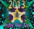 Nuovo anno felice 2013 Fotografie Stock