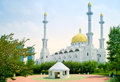 Nur astana mosque modern large beautiful building of is in city Stock Photography
