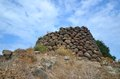 Nuraghe the nuraghi nuraghes is ancient megalithic edifice the symbol of sardinia and the nuragic civilization Stock Image