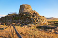 Nuraghe santu antine ancient megalithic in sardinia italy Stock Images