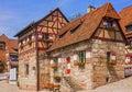Nuremberg Castle historical buildings, Germany