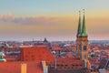 Nuremberg-Germany- beautiful sunset aerial view Royalty Free Stock Photo